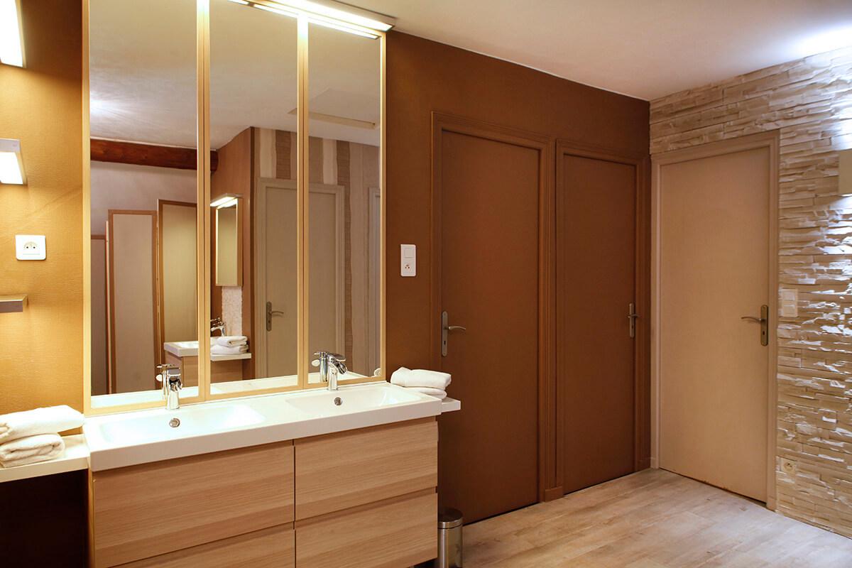 Miroir Salle De Bain Wifi ~ la salle de bain champagne patis paille